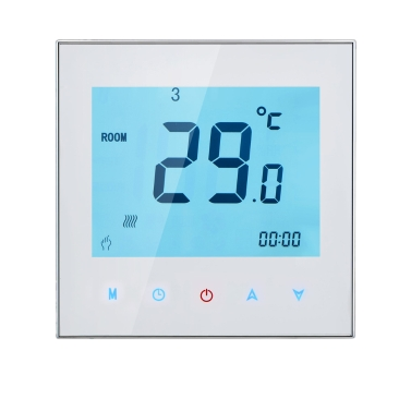 3A 110-230V Weekly Programmable LCD Display Touch Screen Water Heating Thermostat Room Temperature Controller