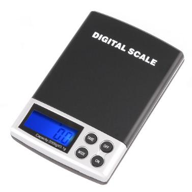 2000g / 0,1g Pocket elektronische Waage
