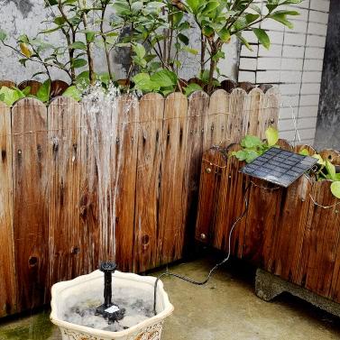 Anself fonte de alimentação solar Pool Water Pump Garden Plants Watering Kit