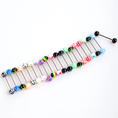 20pcs Colorful Ball Tongue Rings