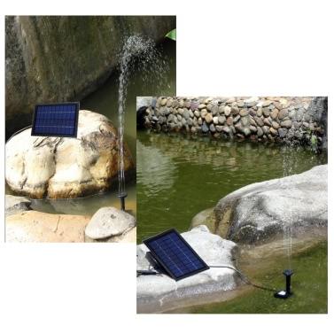Solarstrom dekorative Brunnen-Wasser-Pumpe mit 6 LED-Strahler für Garten Teich Pool Wasserkreislauf 10V 5W