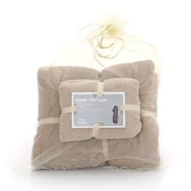 2Pcs/Set Coral Fleece Bath Towels