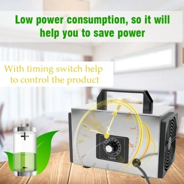 24g/h Generator Ozone Machine Tablets Air Purifier Ozonizer with Timing Switch Purifier For Home Car Formaldehyde Remover