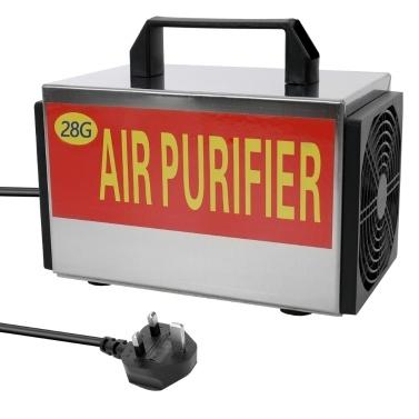 28 g / h Generator Ozon-Maschinentabletten Luftreiniger Ozonisator mit Zeitschaltuhr-Reiniger für Formaldehyd-Entferner für Privathaushalte