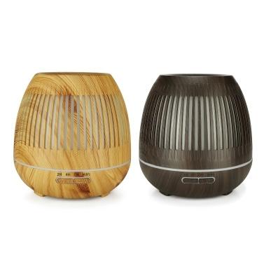 yx-130 Smart WiFi Diffusor mit ätherischen Ölen 400 ml Luftbefeuchter mit kühlem Nebel Holzmaserung Aromatherapie Luftbefeuchter 7 Farbwechsel Stimmungslicht Tuya APP Control Wasserlose automatische Abschaltung