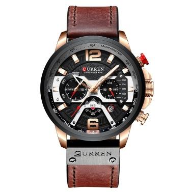 CURREN 8329 Quartz Watch Business Men Simple Sport Wristwatch