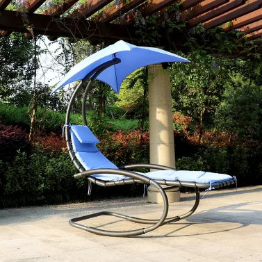 55 IKayaa Rocking Outdoor Patio Chaise Lounge Chair
