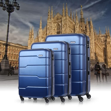 TOMSHOO Luxury 3PCS Spinner Luggage Set