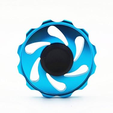 Neue Metall-Aluminium-Legierung Runde EDC Hand Fidget Finger Spinner Gadgets Fokus Werkzeug Schreibtisch Spielzeug Spin Widget für ADD ADHD Kinder Erwachsene entlasten Stress Angst