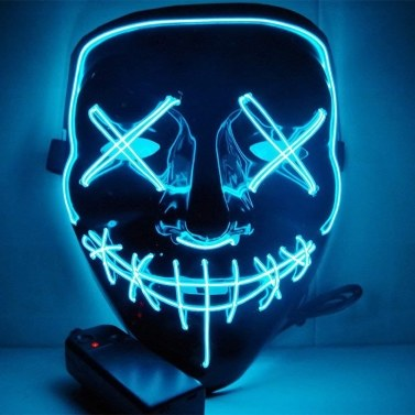 36% de réduction pour LED Flash Light Flash Grimace Fluorescent Festival Performance Party Masque Glowing