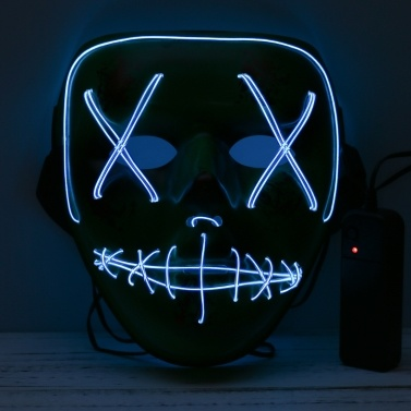 Adults Halloween LED Light Up Mask Halloween Costume Supplies