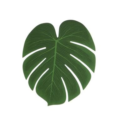 5Pcs Simulation Pflanze Seidenstoff Gefälschte Palmblätter Blumenschmuck