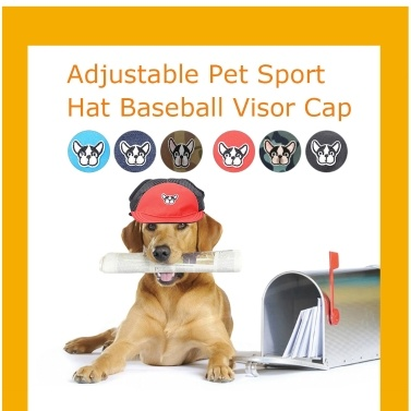 Hundekappen Haustier Sport Hut verstellbare Schnalle Haustier Baseball Visier Cap für kleine Hunde Welpen