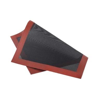 Backmatte aus Silikon in Lebensmittelqualität, 300 x 400 mm, halbe Blattmatte, atmungsaktives Netz, Antihaft-Backen, halbe Blatt für Gebäckplätzchen mit Brötchen