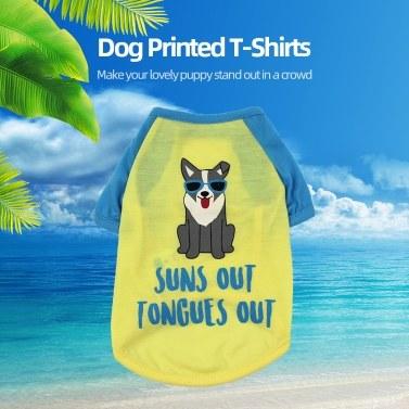 Haustierkleidung Hundehemden Hundet-shirts Bedrucktes Haustierwestenhemd Haustierfrühlingssommerkleidung für kleine Hunde Katzen