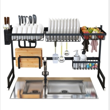 Over the Sink Stainless Steel Dish Rack