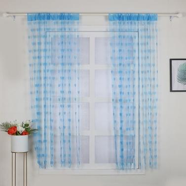 2Pcs 100*200cm Novelty Heart Decor Window Room Line Curtain Romantic String Tassel Door Curtain Divider Room Wall Decoration