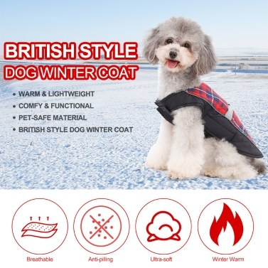 Dog Vest Cold Weather Dog Coats Retro Design Cozy Winter Dog Pet Vest Pet Outfit Clothes for Winter Warm Dog Clothes for Small Medium Large Dogs