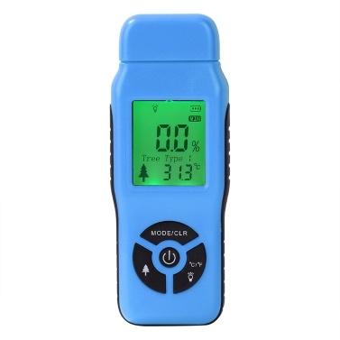 Doppelnadel-Digital-Holzfeuchte-Analysator-Detektor-Feuchtigkeitsmesser-Strecke 2% -70%
