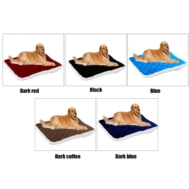 Plush Pet Mat Soft Comfortable Warm Dog Bed Kennel Puppy Cushion Blanket Pet Supplies