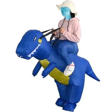 Decdeal Netter Erwachsener Aufblasbarer Dinosaurier Kostüm Anzug T-Rex Aufblasbares Tier Kostüm