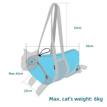 Pet Dog Cat Sling Carrier Hands Free Puppy Outdoor Travel Bag Portable Pet Shoulder Bag Nail Clipping Cleaning Grooming Restraint Bag