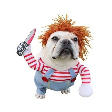 Trajes de Halloween para roupas de cachorro de boneca mortal