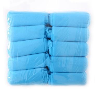 Paquete de 100 (50 pares) Cubiertas de zapatos desechables Cubiertas de botas higiénicas de tela no tejida