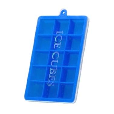 Silikon-Eiswürfelschalen mit Deckel Quadratische Eiswürfelformen 15 Ice Cubes Maker Mould