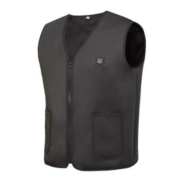 Heated Vest Rechargeable Intelligent Thermostat Vest V Collar Neck Waterproof Washable Auto Regulate Heated Winter Vest Unisex