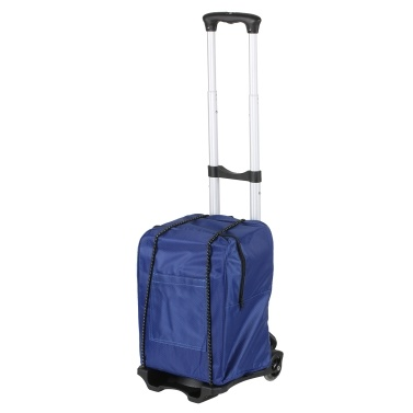 Folding Shopping Trolley Luggage Cart 88lbs/40kg Heavy Duty 2-Wheel Solid Construction Utility Cart with Detachable Backpack for Shopping Moving Traveling