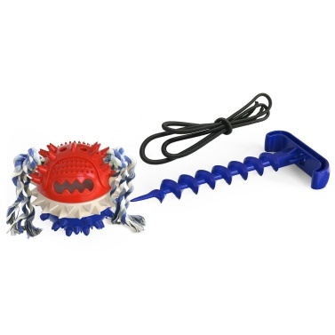 Brinquedo de guerra ao ar livre para cachorro Molar Molar Brinquedo de bola de corda rangente
