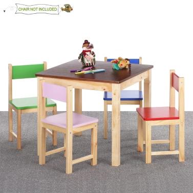 53 IKayaa Nette Hölzerne Kindertisch Massivem Kiefernholz Platz Kleinkind  Kinder Aktivität Tisch Spielen Lernen