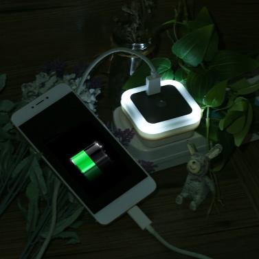 Mini Light Sensor LED Night Light with USB Interface Wall Nightlight for Baby Room Bedroom AC100V-240V