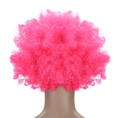 Festnight Erwachsener Bunte Clown Afro Perücke lockige Haare Halloween-Maskerade-Kostüm-Fußball-Ventilator-Perücke