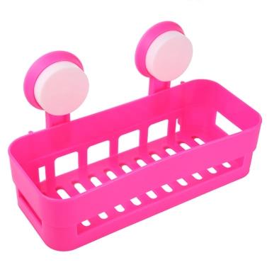 Buy Multi-use Plastic Bathroom Kitchen Shelf Storage Rack Wall Mount Organizer Holder Basket W/2 Suckers