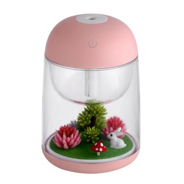 Mini Transparent Micro-landschaft Luftbefeuchter Spray Luftreiniger Aroma Diffusor Bunte Nachtlicht für Home Office