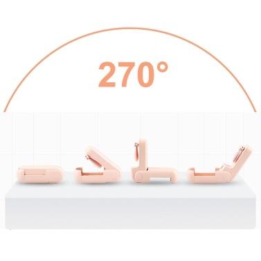 Handlüfter mit LED-Anzeige Faltbarer tragbarer Mini-Lüfter 2-stufiger, geräuscharmer persönlicher Schreibtischlüfter für Reisen Camping Office Home USB-Powerbank-Funktion Schreibtischlüfter Telefonhalter