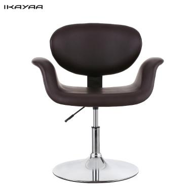 iKayaa Moderne Ergonomic Verstellbare PU-Leder-Salon Frisierstuhl Hocker Padded Pneumatic Haidresser Stuhl