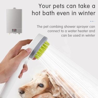 Pet Combing Shower Sprayer Pet Dog Bathing Grooming Massage Brush Tool Water Sprinkler Brush for Dogs Cats