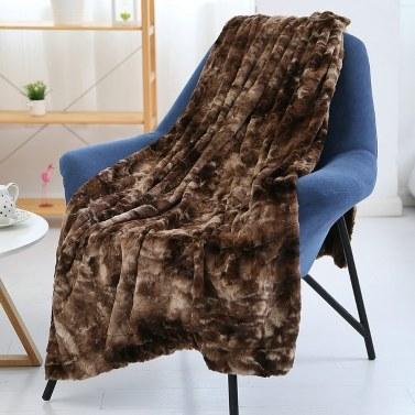 Long Fur Throw Blanket Micro Plush Velvet Fleece Blanket