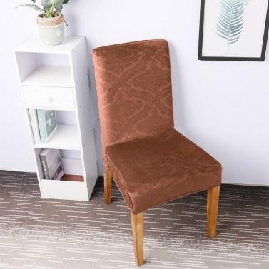 Silberfuchs Einfarbig Geprägte Stuhlabdeckung Stretch Stuhlschutz Rutschfeste Abnehmbare Waschbar für Esszimmerstuhl Hotel 4 stücke Schwarz