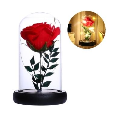 Simulation Rose Blume Glasabdeckung LED String Licht Startseite Nachtlicht Dekoration Valentinstag Geburtstagsgeschenk