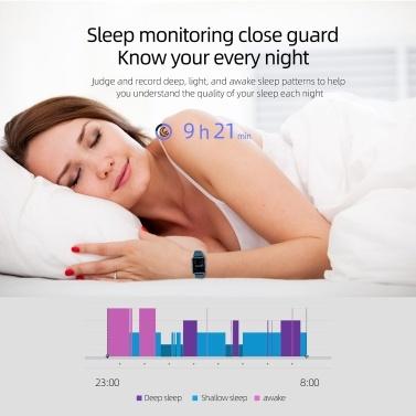 """Smart Watch Fitness Tracker Herzfrequenzmesser Körpertemperatur Schlafmonitor Blutdruck Wasserbeständig 1,3 """"Farbe Touchscreen Aktivitäts-Tracking-Schrittzähler für Frauen Männer Kinder"""