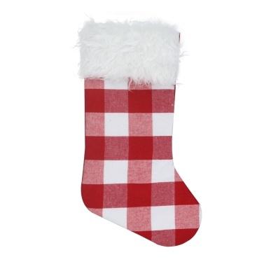 Christmas Stocking Plaid Hanging Xmas Stockings
