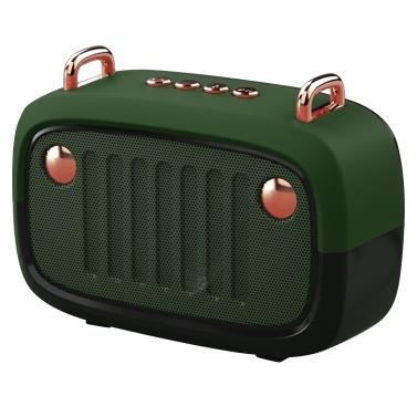 BT Speaker Wireless BT Speaker Portable BT 5.0 Support Memory Card Phone Call Radio Reception Long Battery Service Life