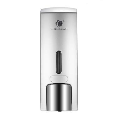 CHUANGDIAN 300ml Wall-mounted Single Bottle Manual Soap Dispenser Shampoo Box