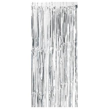 92 * 245cm Metallfolie Fringe Vorhang