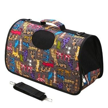 Pet Carrier Aslant Bag Mesh Window Dog Carrier