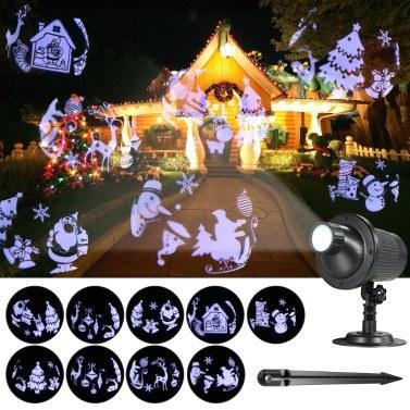 Projektionslicht Animierte Weihnachten Led Projektor Fernbedienung Multicolor Projektor Lichter